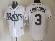 Mens Mlb Tampa Bay Rays #3 Longoria White Cool Base Jersey