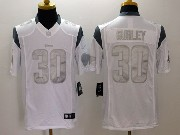 Mens   Los Angeles Rams #30 Todd Gurley White (silver Number) Platinum Limited Jersey