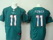 Mens Nfl Miami Dolphins #11 Parker Green Elite Jersey
