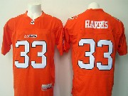 Mens Cfl British Columbia Lions #33 Harris Ornage Jersey