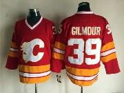 Mens reebok nhl calgary flames #39 gilmour red throwbacks Jersey