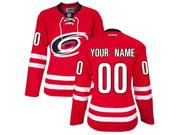 Women Nhl Carolina Hurricanes (custom Made) Red Jersey