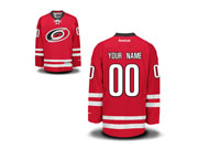Youth Nhl Carolina Hurricanes (custom Made) Red Jersey