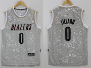 Mens Nba Portland Trail Blazers #0 Lillard Gray Sun Version Jersey