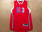 Mens Nba Los Angeles Clippers #3 Paul Red 2016 (white Number) Jersey