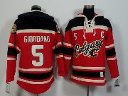 Mens Nhl Calgary Flames #5 Giordano Red (team Hoodie) Jersey