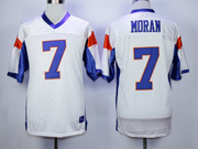 Mens Nfl Movie Mountain State #7 Moran White Jersey