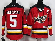 Youth Reebok Nhl Calgary Flames #5 Giordano Red 2015 New Jersey