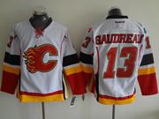 Mens Reebok Nhl Calgary Flames #13 Gaudreau White Jersey