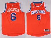 Mens Nba New York Knicks #6 Porzingis Orange Jersey (p)