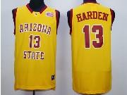Mens Ncaa Nba Arizona State Sun Devils #13 Harden Yellow Jersey