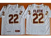 Mens Ncaa Nfl Boston College Eagles #22 Flutie White Jersey