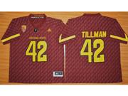 Mens Ncaa Nfl Arizona State Sun Devils #42 Tillman Red Jersey