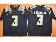 Mens Ncaa Nfl Oregon Ducks #3 V.adams Jr Black (light Gray Number) Jersey