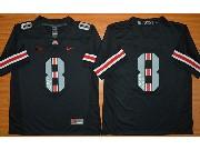Mens Ncaa Nfl Oregon Ducks 8th Black (light Gray Number) Jersey