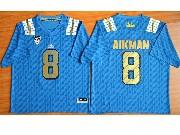 Mens Ncaa Nfl Ucla Bruins #8 Aikman Light Blue Jersey