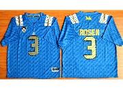 Mens Ncaa Nfl Ucla Bruins #3 Rosen Light Blue Jersey