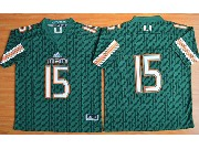 Mens Ncaa Nfl Miami Hurricanes #15 Brand Kaaya (2015 New) Green Jersey
