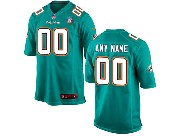 Youth Nfl Miami Dolphins (custom Made) Green Game Jersey