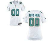 Womens Nfl Miami Dolphins (custom Made) White Game Jersey