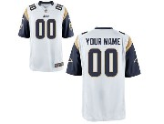 Nfl St. Louis Rams (custom Made) White Game Jersey