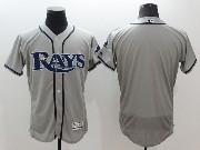 mens majestic tampa bay rays blank gray Flex Base jersey