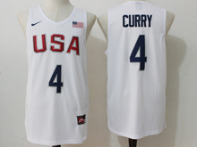 Mens Nba 12 Dream Team #4 Stephen Curry White Jersey