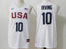 Mens Nba 12 Dream Team #10 Kyrie Irving White Jersey