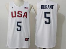Mens Nba 12 Dream Team #5 Kevin Durant White Jersey