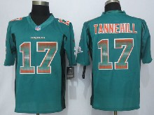 Mens Nfl Miami Dolphins #17 Ryan Tannehill Green Strobe Limited Jersey