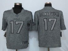 Mens Nfl Miami Dolphins #17 Ryan Tannehill Gray Stitched Gridiron Limited Jersey