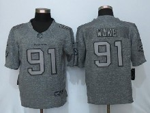 Mens Nfl Miami Dolphins #91 Cameron Wake Gray Stitched Gridiron Limited Jersey