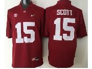 Mens Ncaa Nfl Alabama Crimson #15 Scott Red Sec Limited Jersey