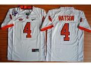 Youth Ncaa Nfl Clemson Tigers #4 Deshaun Watson White College Football Jersey