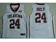 Mens Ncaa Nba 2016 Oklahoma Sooners #24 Buddy Hield White College Basketball Jersey