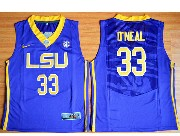 Mens Ncaa Nba Lsu Tigers #33 Shaquille O'neal Purple Basketball Elite Jersey