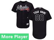 Mens Majestic Atlanta Braves Navy Flex Base Current Player Jersey