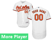 Mens Majestic Baltimore Orioles White Flex Base Current Player Jersey