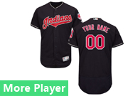 Mens Majestic Cleveland Indians Navy Blue Flex Base Current Player Jersey