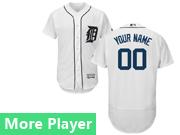 Mens Majestic Detroit Tigers White Flex Base Current Player Jersey