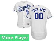 Mens Majestic Kansas City Royals White Flex Base Current Player Jersey