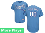 Mens Majestic Kansas City Royals Light Blue Flex Base Current Player Jersey