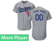 Mens Majestic Los Angeles Dodgers Gray Flex Base Current Player Jersey