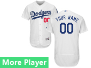 Mens Majestic Los Angeles Dodgers White Flex Base Current Player Jersey