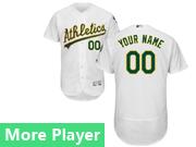 Mens Majestic Oakland Athletics White Flex Base Current Player Jersey