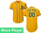 Mens Majestic Oakland Athletics Gold Flex Base Current Player Jersey