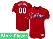 Mens Majestic Philadelphia Phillies Red Flex Base Current Player Jersey