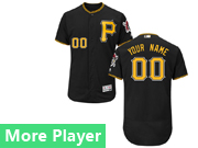 Mens Majestic Pittsburgh Pirates Black Flex Base Current Player Jersey
