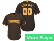 Mens Majestic San Diego Padres Brown Cool Base Current Player Jersey