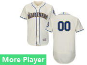 Mens Majestic Seattle Mariners Cream Flex Base Current Player Jersey